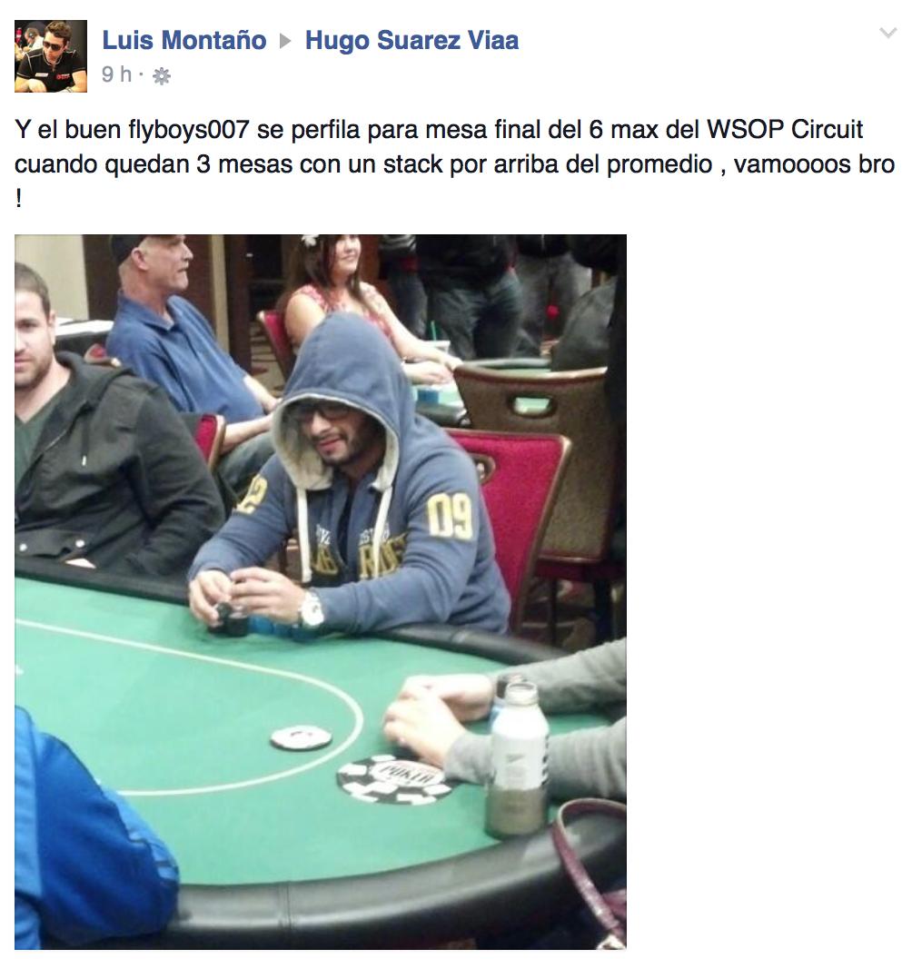 """Hugo """"Flyboys007"""" Suarez en la mesa final del WSOP-C en San Diego. 102"""