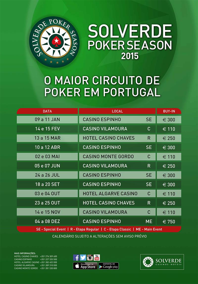 Apresentado Calendário Solverde Poker Season 2015 101