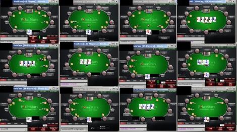 Una de las ventajas de Internet es que puedes jugar muchas mesas al mismo tiempo.