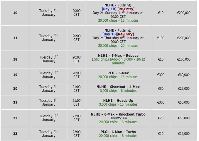 Winamax Series 11 & Bónus Reload: 4 a 15 de Janeiro na Winamax Poker 103