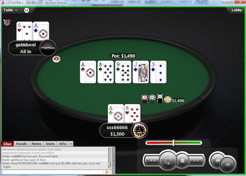 "Russian Player ""sss66666"" Wins the First PokerStars  Million Spin & Go 101"