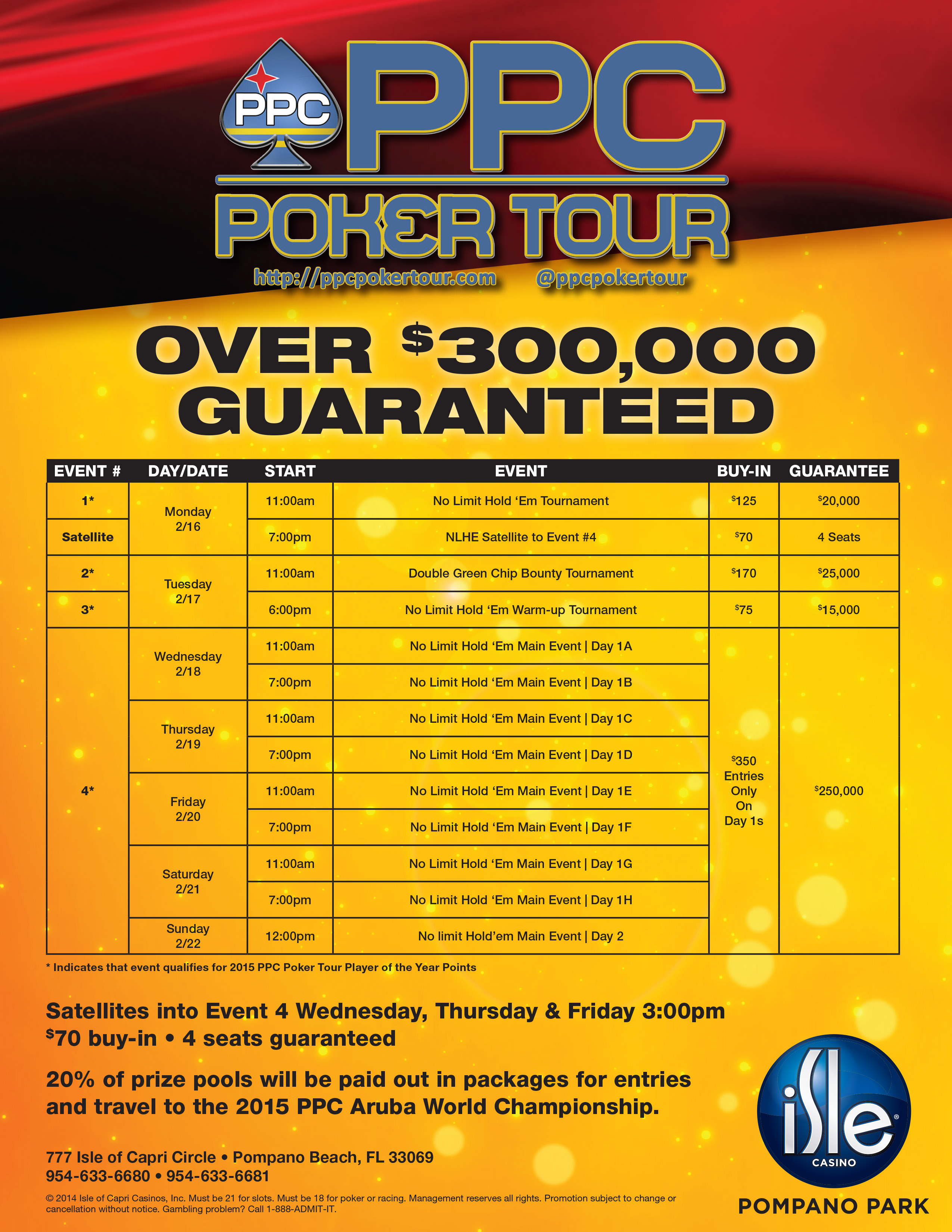 Isles casino poker tournament schedule no deposit electricity