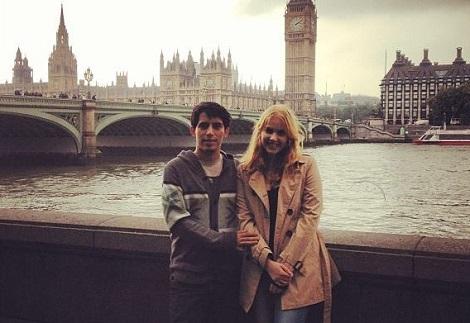 Diego Ventura junto a su esposa.