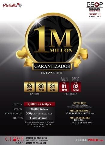 ¡Guadalajara Series of Poker 1.1 por iniciar actividades mañana en Pabellón! 101