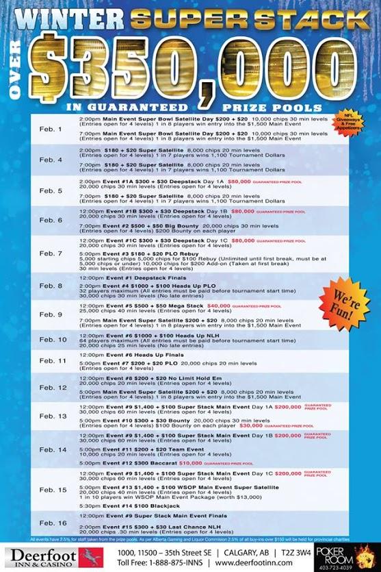 2015 Deerfoot Inn & Casino Winter Super Stack full schedule