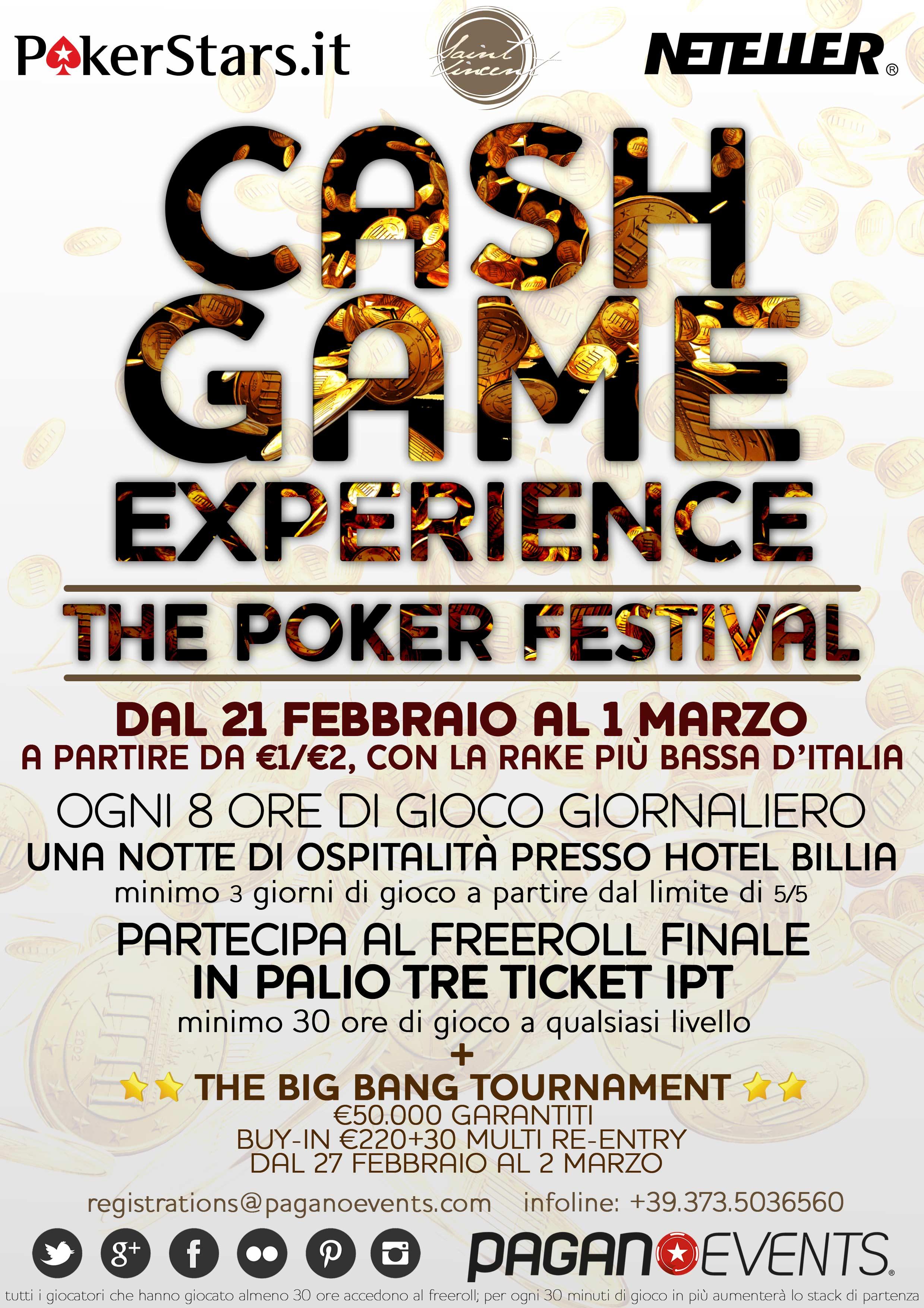 Cash Game Experience Poker Festival: un'altra esclusiva al Casino de la Vallée, targata... 101