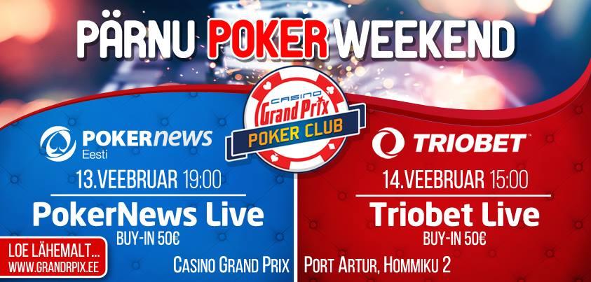 Pärnu Poker Weekend tuleb taas: Triobet garanteerib täna õhtul 10 piletit 101