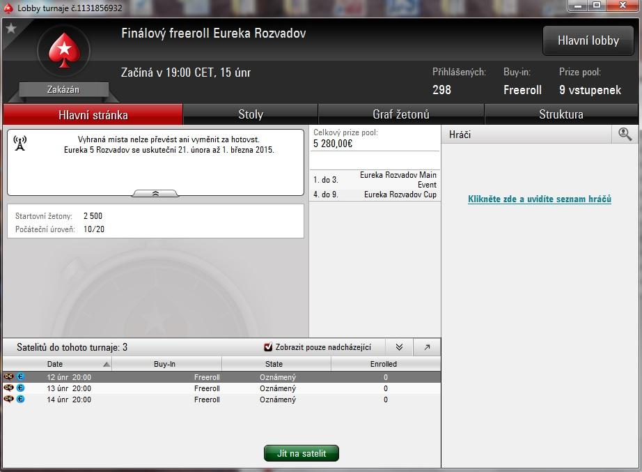 ZADARMO na Eureku €500.000 GTD do King´s Casino Rozvadov 101