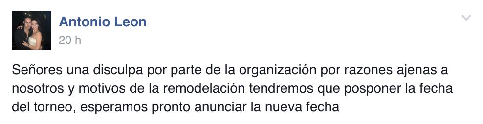 Se pospone la Serie 2.1 del Pabellón en Guadalajara 101