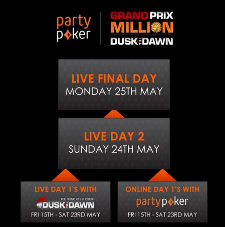 Dusk Till Dawn oznámil plán uspořádat v květnu Grand Prix s garancí $ 1.000.000 102