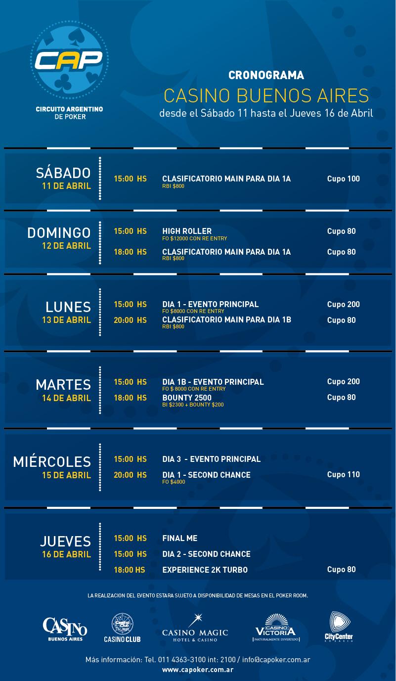 El CAP presentó el calendario oficial para el 2015; Cronograma de la primera fecha 101
