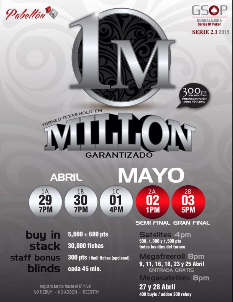 El Guadalajara Póker Series 2.0 anuncia su nueva fecha para torneo 101