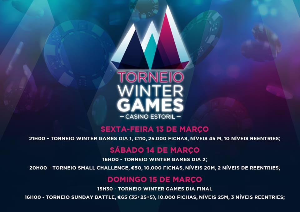 Torneio Winter Games 13 a 15 de Março no Casino Estoril 101