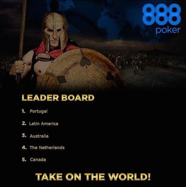 Portugal Lidera Batalha das Nações 888poker - 0,000 em Jogo 101