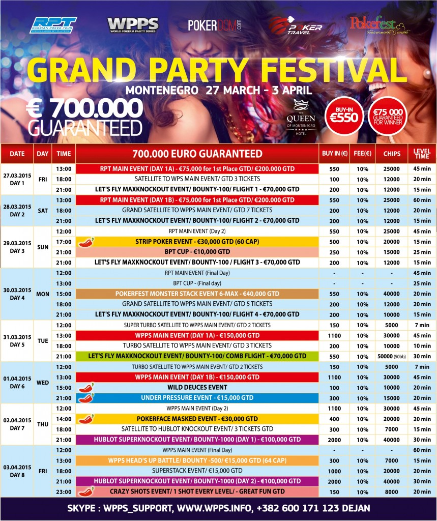 Grand Party Festival Montenegro  sa €700 000  GTD 27. Mart - 3. April 102