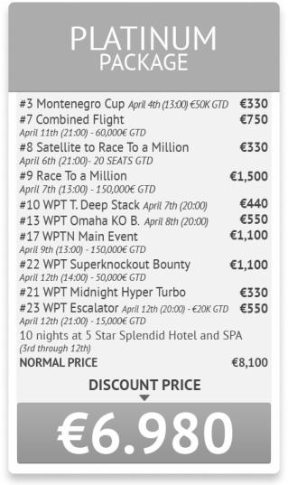 World Poker Tour National Montenegro програма и допълнителна... 103