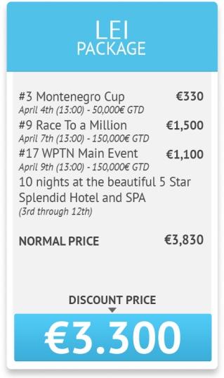 World Poker Tour National Montenegro програма и допълнителна... 104