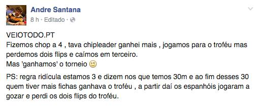 André Santana 3º na Madrid Cup 2015 (€16,000) 101