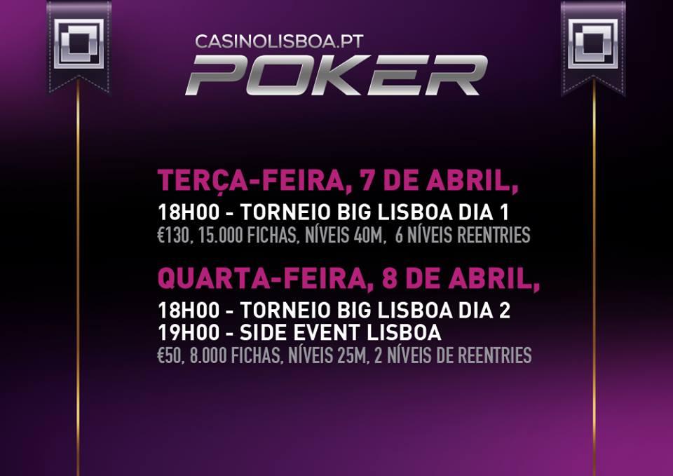 Hoje às 18:00 - Big Lisboa 1 no Casino Lisboa 101