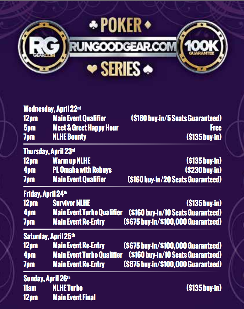 Hard rock casino tulsa poker tournament schedule