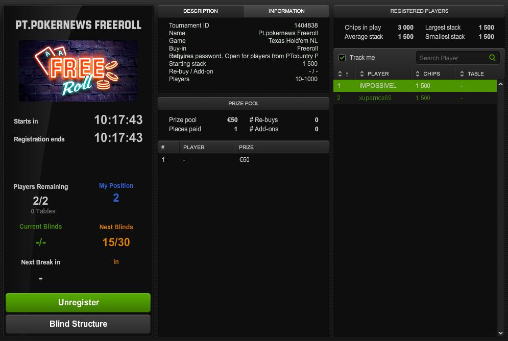 Hoje às 21:00 5º Freeroll FPP Podcast na Unibet Poker 101