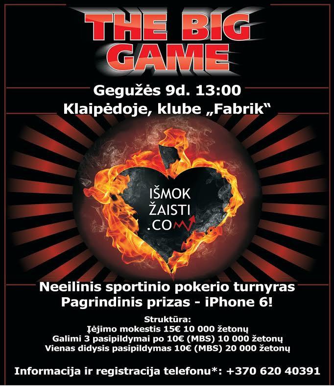 Rekordinis sportinio pokerio turnyras Lietuvoje - jau šį šeštadienį! (paskelbti turnyro... 102