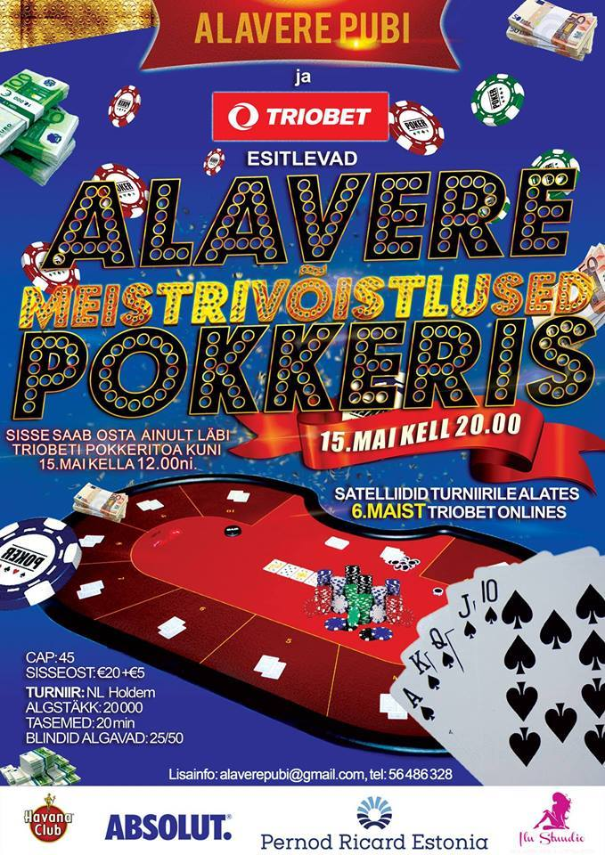 Reedel selgub Anija vallas esimene Alavere pokkerimeister 101