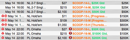 SCOOP 2015: Zagalo (k) e Wade (k) Deep no Evento #10 & Mais 103