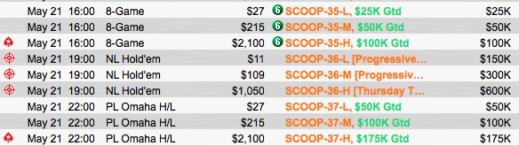 "SCOOP 2015: João ""Naza114"" Vieira 2º no Evento #34 High (,840) 102"
