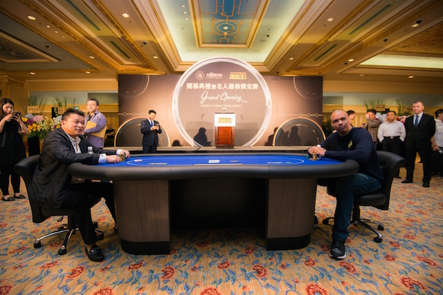 Phil Ivey, Johnny Chan, and Tom Dwan Attend Poker King Club Macau Grand Opening 107