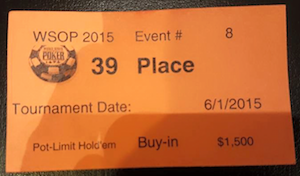 Fernando Brito 39º no Evento #8: ,500 Pot-Limit Hold'em (,011) 101