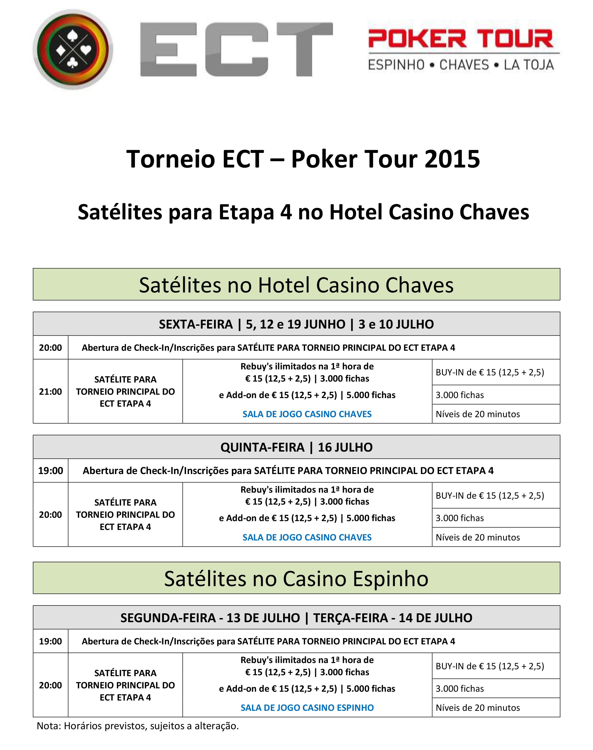 Etapa 4 ECT Poker Tour - Satélites em Chaves e Espinho! 101