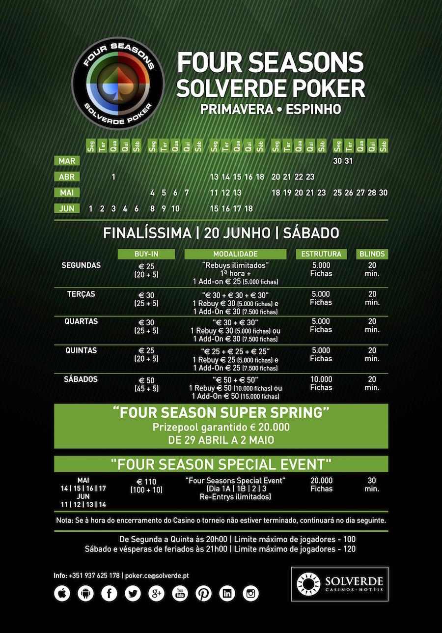 Four Seasons Special Event, 11 a 14 Junho no Casino de Espinho 101