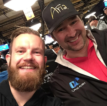 Rinkema and Hellmuth enjoying the event