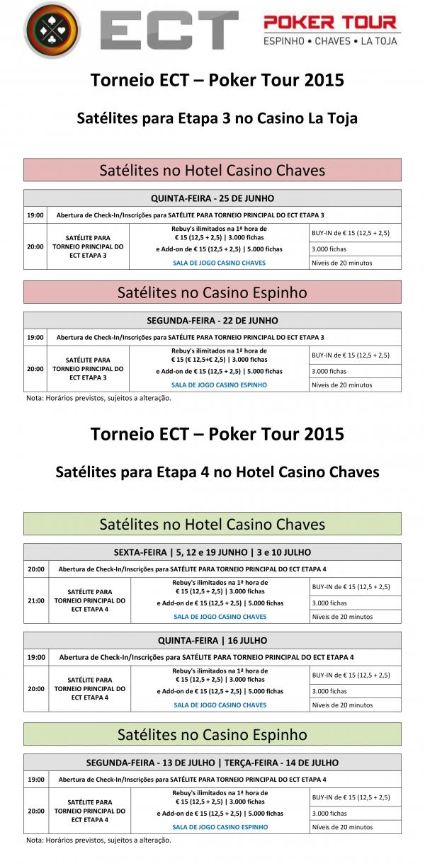 Satélite Etapa 3 ECT Poker Tour Hoje às 20:00 em Chaves 101