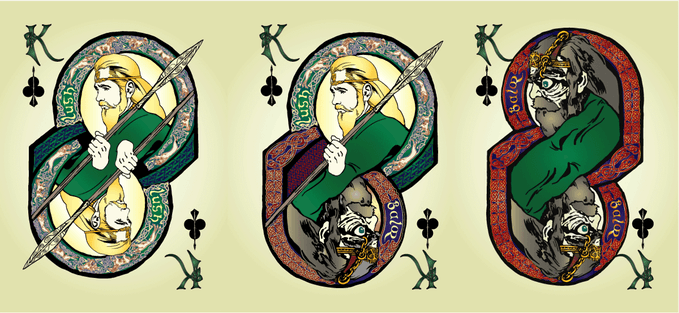 Celtic Myth Playing Cards & Strategic Card Game