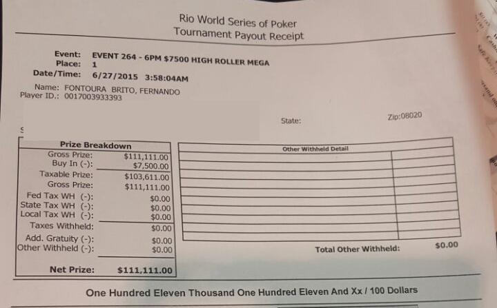 Fernando Brito Vai Jogar o 1,111 High Roller for ONE DROP 101