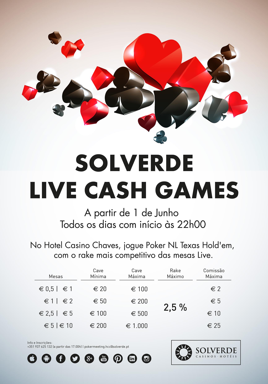 Solverde Live Cash Games no Casino de Chaves a Todo Vapor 101