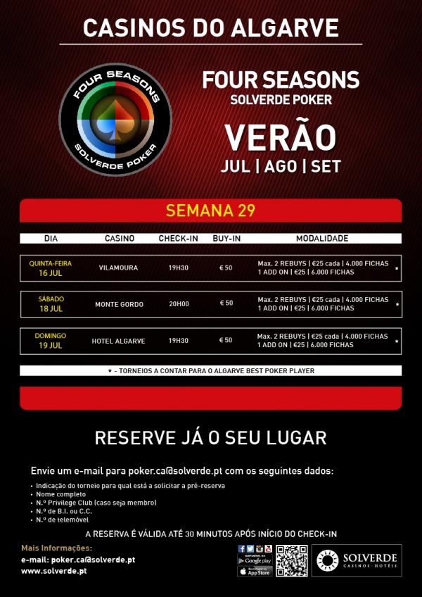Four Season Solverde Poker Verão Algarve com 3 Torneios esta Semana 101