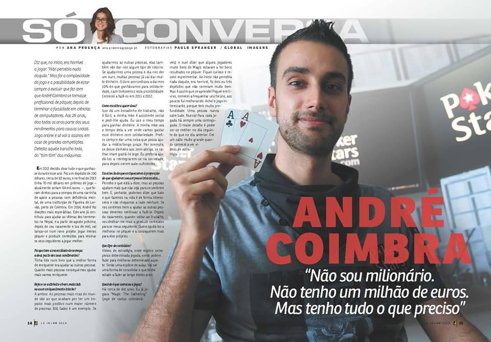 André Coimbra em Entrevista na Revista J 101