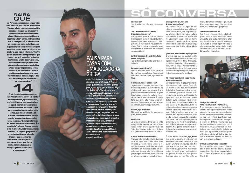 André Coimbra em Entrevista na Revista J 102
