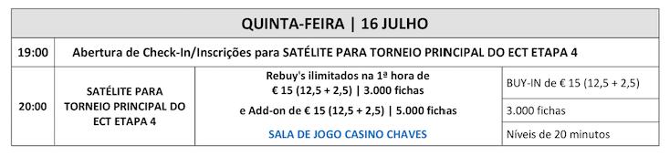 Programa Etapa 4 ECT Poker Tour 16 a 19 Julho em Chaves 101