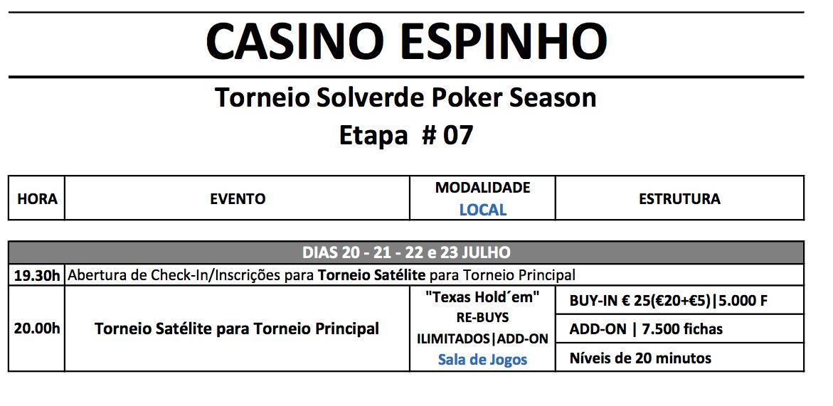 Etapa 7 Solverde Poker Season: Satélites Diários Apuram Dezenas de Jogadores 101