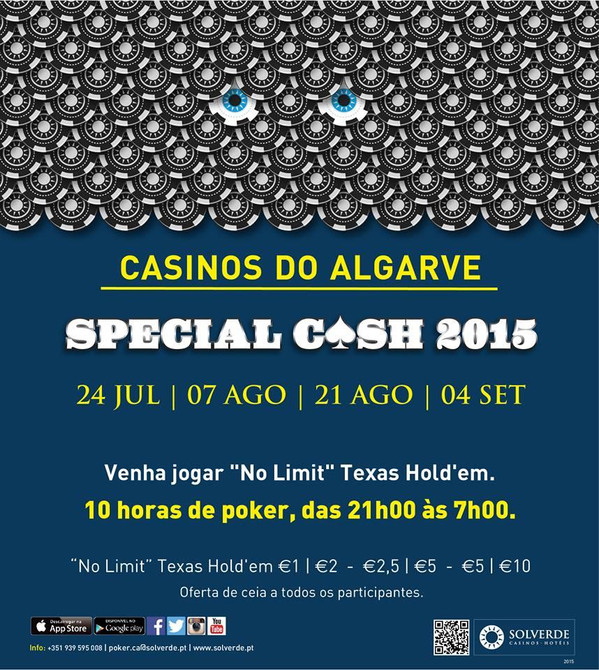 Special Cash das 21:00 às 07:00 Sexta-Feira (21 Agosto) no Casino de Vilamoura 101