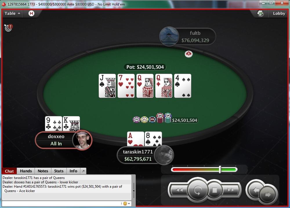 "Nedelja na PokerStarsu: ""doxxeo"" Chop-ovao Sunday Storm 105"