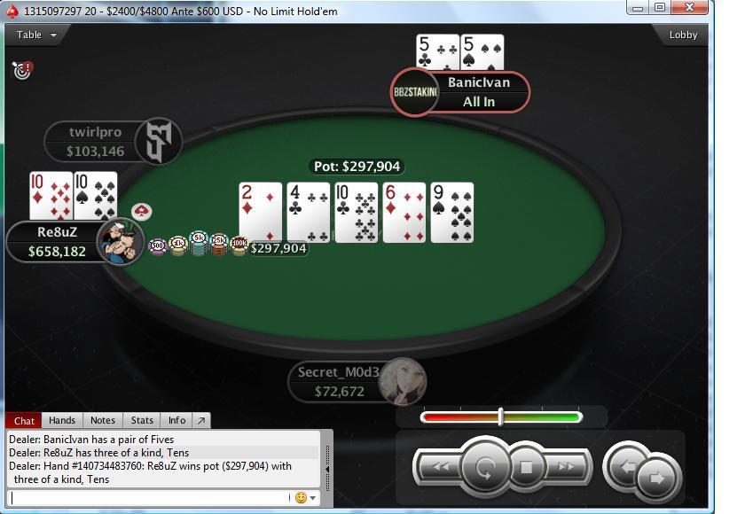 Dominacija Regionalnih Igrača na Turniru 265 $ NLH Knockout (PokerStars) 101