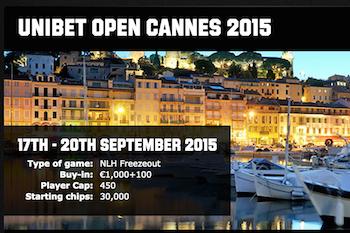2015 Unibet Open Cannes €1,100 Main Event Kicks Off Thursday at Casino Barrière 101