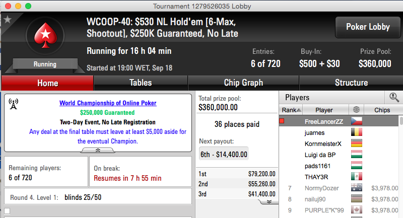 WCOOP: Michel Dattani na FT do #40 & Naza114 5/25 no Evento #39 103