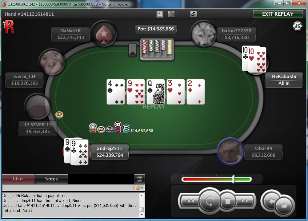 """Nedelja na PokerStarsu: """"dejanaceking"""" Najuspešniji, """"andrej2511"""" Runner up na Sunday... 110"""