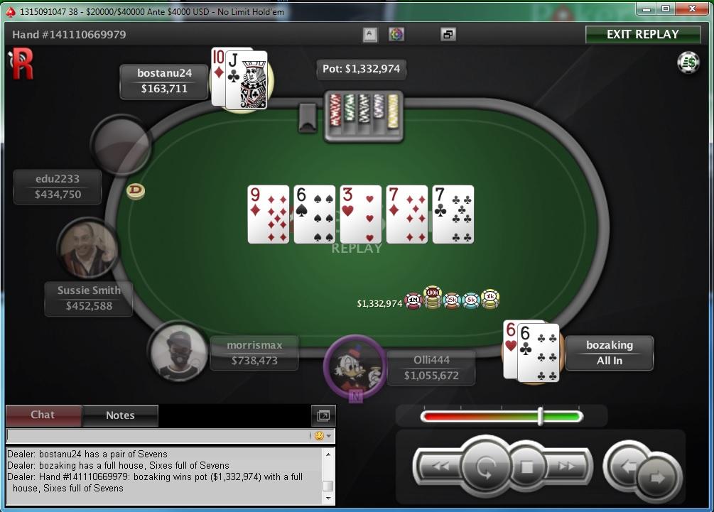 """Nedelja na PokerStarsu: """"dejanaceking"""" Najuspešniji, """"andrej2511"""" Runner up na Sunday... 123"""